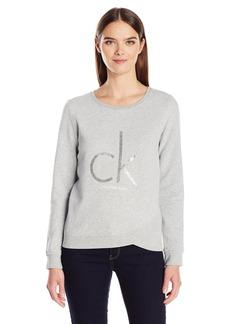 Calvin Klein Jeans Women's Caviar Ck Logo Sweatshirt  SMALL