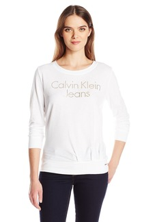 Calvin Klein Jeans Women's Caviar Sweatshirt  MEDIUM