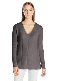 Calvin Klein Jeans Women's Chevron Texture U-Neck Sweater