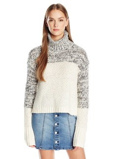 Calvin Klein Jeans Women's Chunky Knit Turtleneck Sweater  SMALL