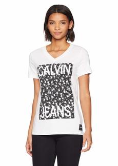 Calvin Klein Jeans Women's CKJ Soft Cotton V-Neck T-Shirt