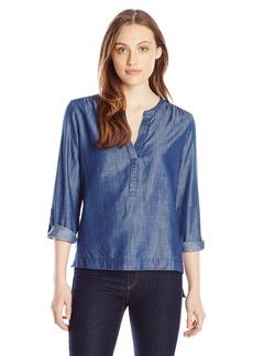 Calvin Klein Jeans Women's Cotton Tencel Long Sleeve Sport Popover