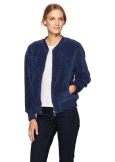 Calvin Klein Jeans Women's Cracked Printed Logo Sherpa Full Zip Sweatshirt