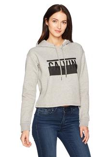 Calvin Klein Jeans Women's Cropped Calvin Logo Hoodie  L