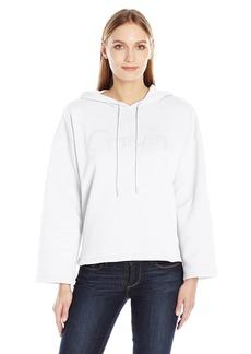 Calvin Klein Jeans Women's Cropped Logo Hoodie  MEDIUM