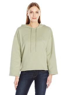 Calvin Klein Jeans Women's Cropped Logo Hoodie  SMALL