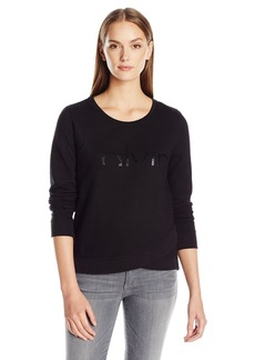 Calvin Klein Jeans Women's Cropped Calvin Logo Sweatshirt