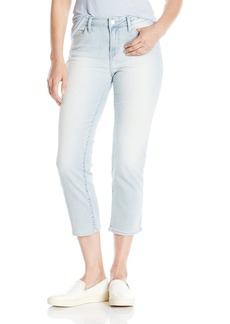 Calvin Klein Jeans Women's Cropped Straight Jean Ice Blue