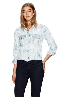 Calvin Klein Jeans Women's Cropped Trucker Jacket  LARGE