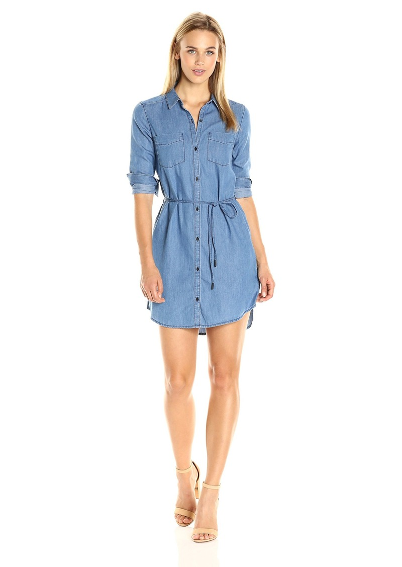 Calvin Klein Jeans Women's Denim Belted Shirt Dress