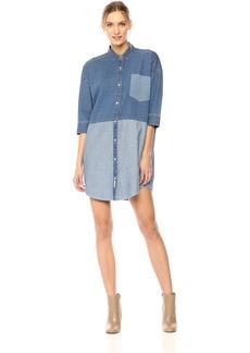 Calvin Klein Jeans Women's Denim Blocked Dolman Dress