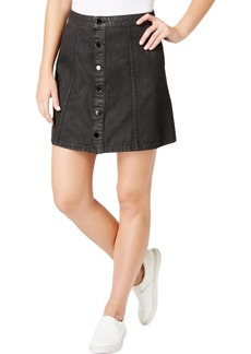 Calvin Klein Jeans Women's Denim Mini Jean Skirt Black