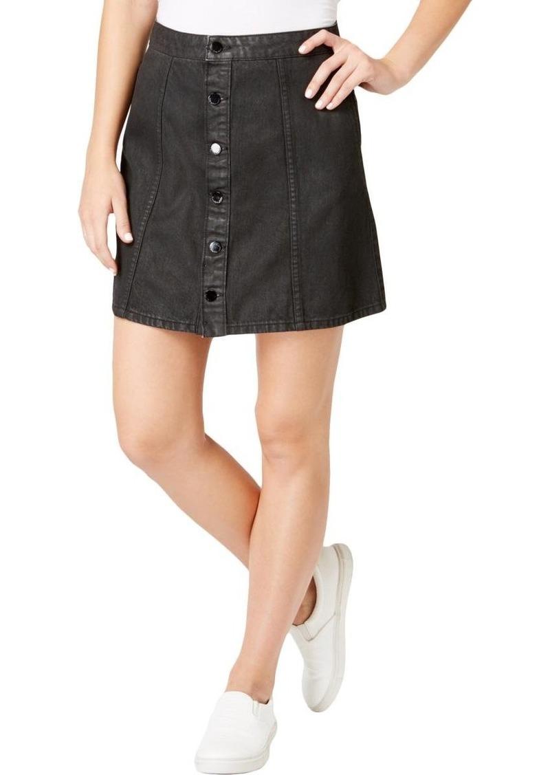 Calvin Klein Jeans Women's Denim Mini Jean Skirt Black