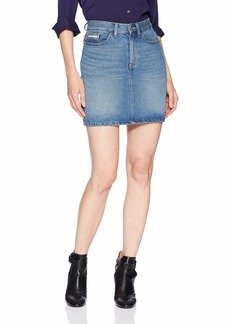 Calvin Klein Jeans Women's Denim Mini Skirt PHONECIA wash