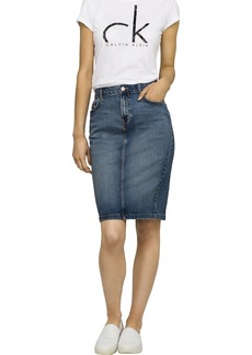 Calvin Klein Jeans Women's Denim Pencil Skirt
