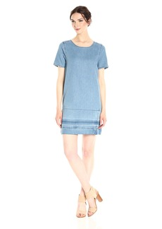 Calvin Klein Jeans Women's Denim T-Shirt Dress With Let Down Hem