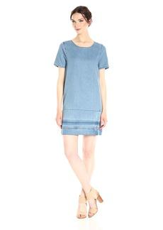 Calvin Klein Jeans Women's Denim T-Shirt Dress Hem  MEDIUM