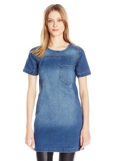 Calvin Klein Jeans Women's Denim T-Shirt with Stud Accents