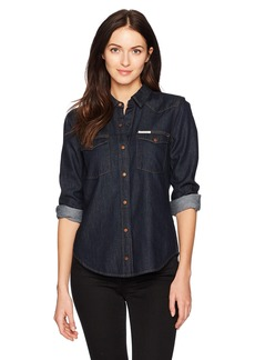 Calvin Klein Jeans Women's Denim Western Button Down Shirt