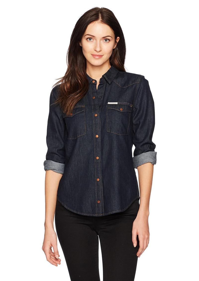 a1957345313422 Calvin Klein Calvin Klein Jeans Women s Denim Western Button Down ...