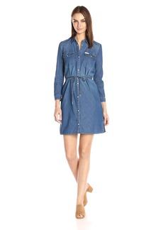 Calvin Klein Jeans Women's Denim Western Dress  LARGE