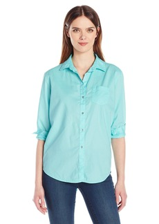 Calvin Klein Jeans Women's Easy Boyfriend Button Down Shirt  X-LARGE