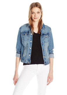 Calvin Klein Jeans Women's Embroidered Trucker Jacket  LARGE