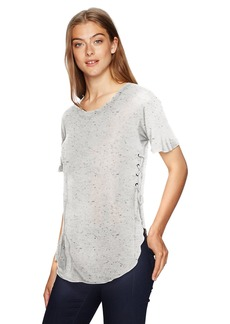 Calvin Klein Jeans Women's Essential Short Sleeve T-Shirt with Side Lacing