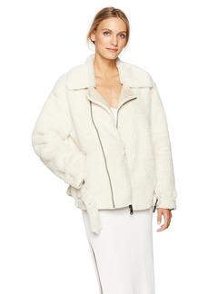 Calvin Klein Jeans Women's Faux Shearling Biker Jacket