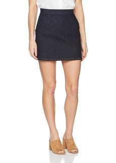 Calvin Klein Jeans Women's Flat Front Denim Skirt