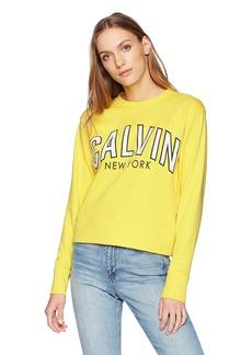 Calvin Klein Jeans Women's Flocked Logo Sweatshirt  S