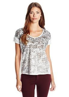 Calvin Klein Jeans Women's Foil Print Tee (Gex-