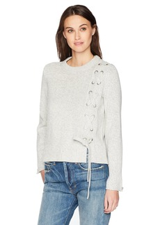 Calvin Klein Jeans Women's Funnel Neck Lace-up Pullover Sweater