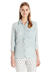 Calvin Klein Jeans Women's Garment Dyed Long Sleeve Shirt