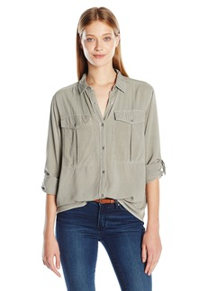 Calvin Klein Jeans Women's Garmet Dye Utility Shirt with D-Rings