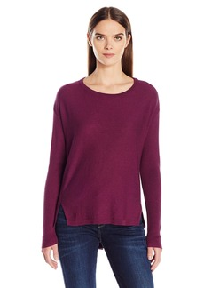 Calvin Klein Jeans Women's High Low Split Hem Ballet Neck Sweater