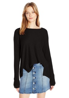 Calvin Klein Jeans Women's High Low Split Hem Ballet Neck Sweater  SMALL
