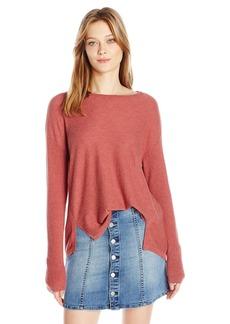 Calvin Klein Jeans Women's High Low Split Hem Ballet Neck Sweater