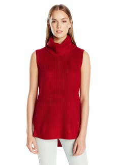 Calvin Klein Jeans Women's High Low Turtleneck Tunic Sweater  LARGE