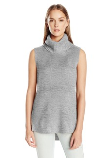 Calvin Klein Jeans Women's High Low Turtleneck Tunic Sweater  SMALL