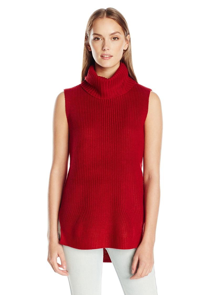Calvin Klein Jeans Women's High Low Turtleneck Tunic Sweater