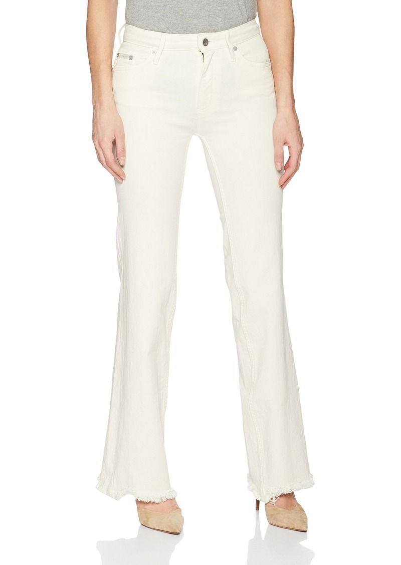 Calvin Klein Jeans Women's High Rise Wide Leg Jean egret