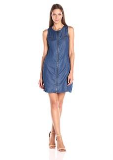 Calvin Klein Jeans Women's Indigo Moto Bodycon Dress