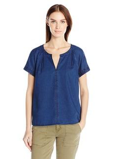 Calvin Klein Jeans Women's Indigo Popover Blouse