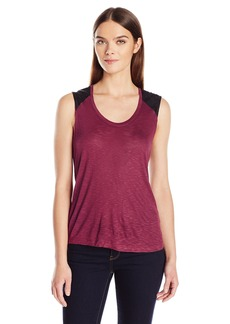 Calvin Klein Jeans Women's Lace Mixed Media Tank Top