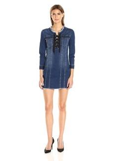 Calvin Klein Jeans Women's Lace up Denim Dress