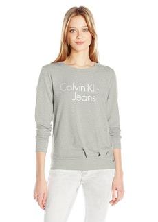 Calvin Klein Jeans Women's Logo Sweatshirt  LARGE