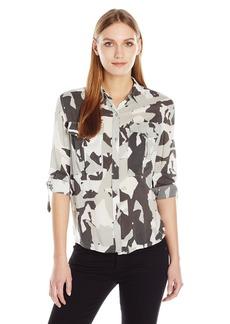 Calvin Klein Jeans Women's Long Sleeve Camo Printed Utility Shirt