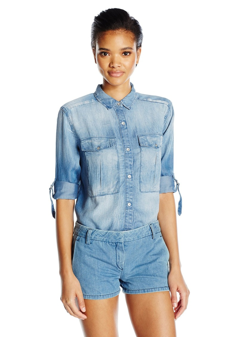 Calvin Klein Jeans Women's Long Sleeve Utility Shirt