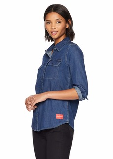 Calvin Klein Jeans Women's Long Sleeve Denim Shirt